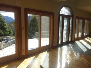 patio doors in place