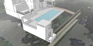 new roc pool sketchup Scene 2 aerial