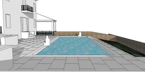 new roc pool sketchup Scene 3 one point perspective